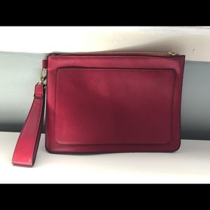 Forever 21 Large Red Clutch